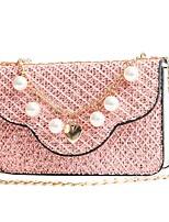 cheap -Women's Bags PU Shoulder Bag Zipper for Casual All Seasons Blushing Pink Gray