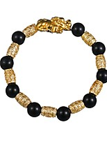 cheap -Men's 1pc Strand Bracelet - Animals Vintage Circle Black Bracelet For Daily Formal