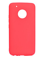 cheap -Case For Motorola MOTO G5 MOTO G5 Plus Ultra-thin Back Cover Solid Colored Soft TPU for Moto G5 Plus Moto G5