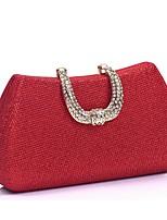 preiswerte -Damen Taschen Polyester Abendtasche Kristall Verzierung für Hochzeit Veranstaltung / Fest Ganzjährig Gold Schwarz Silber Rote