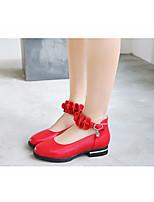 Недорогие -Девочки обувь Полиуретан Весна Осень Детская праздничная обувь Удобная обувь На плокой подошве для Повседневные Белый Черный Красный