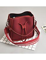 cheap -Women's Bags PU Bag Set Zipper for Casual Brown / Gray Green / Red black