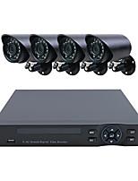 Недорогие -4ch ahd комплекты h.264 облако ahd коаксиальный dvr и hd 4 * 720p камера ночного видения