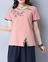 abordables -Tee-shirt Femme,Fleur Chic de Rue