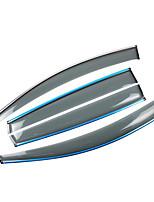 preiswerte -4pcs Auto Deflektoren und Schilde transparente Gürtelschnalle / Einfügen-Typ For Autofenster For Volkswagen Tiguan Alle Jahre