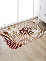 cheap -Creative Country Traditional Doormats Area Rugs Bath Mats Flannelette, Superior Quality Rectangle Polka Dot Spots & Checks Graphic Rug