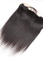 Недорогие -Guanyuwigs Жен. Прямой 4X13 Закрытие Бразильские волосы Швейцарское кружево Натуральные волосы Бесплатный Часть Средняя часть 3 Часть С