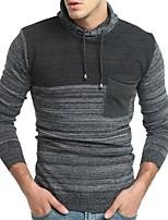 Недорогие -Муж. Классический Пуловер - Контрастных цветов, Пэчворк