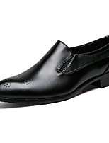 preiswerte -Herrn Schuhe Leder Frühling Sommer formale Schuhe Outdoor Niete für Hochzeit Party & Festivität Schwarz Rot