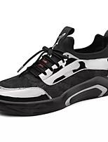 Недорогие -Муж. обувь Резина Лето / Осень Удобная обувь Кеды Черно-белый / Черный / Красный