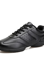 cheap -Women's Dance Sneakers Synthetic Microfiber PU Sneaker Outdoor Low Heel White Black 1 - 1 3/4inch Customizable