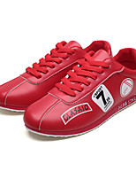 cheap -Men's Shoes Leatherette Spring / Summer Novelty Sneakers White / Black / Red