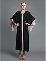 abordables -Femme Sophistiqué Chic de Rue Courte Balançoire Abaya Robe Couleur Pleine Maxi