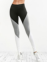 cheap -Women's Sporty Legging - Color Block Mid Waist