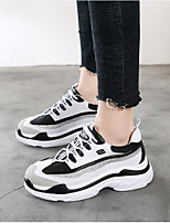 cheap -Women's Shoes PU Spring Comfort Sneakers Creepers for White Black