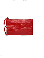 cheap -Women's Bags PU Wallet Buttons for Casual Black / Red / Light Purple
