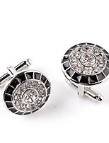 cheap -Circle Silver Cufflinks Alloy Fashion European Wedding Formal Men's Costume Jewelry