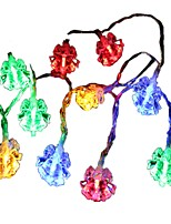 cheap -1.5m String Lights 10 LEDs Multi-colors Decorative AA Batteries Powered 1pc