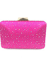 cheap -Women's Bags Rhinestones Evening Bag Crystals Yellow / Fuchsia