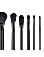 cheap -7 pcs Foundation Brush Powder Brush Lip Brush Eyeshadow Brush Blush Brush Nylon Soft Full Coverage Wooden Beech Wood Wood Face Nose Soft