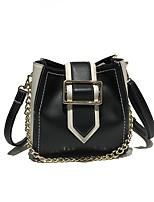 cheap -Women's Bags PU Shoulder Bag Zipper for Casual White / Black / Red
