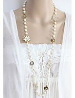 cheap -Women's Cute Flower Collar Necklace  -  Fashion White 80cm Necklace For Daily Evening Party