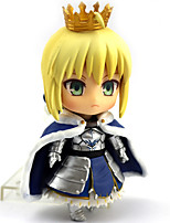 cheap -Anime Action Figures Inspired by Fate / stay night Saber PVC 10cm CM Model Toys Doll Toy