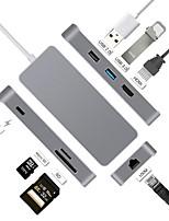Недорогие -7 USB-концентратор USB 3.0 USB 3.0 Тип C Высокая скорость Центр данных