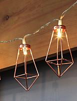 abordables -1.5 Cuerdas de Luces 10 LED Blanco Cálido Decorativa Pilas AA alimentadas 1pc