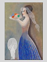 abordables -Peinture à l'huile Hang-peint Peint à la main - Personnage Moderne Toile