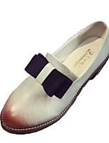 abordables -Femme Chaussures Gomme Printemps / Automne Confort Oxfords Talon Bottier Bout rond Blanc / Noir / Gris