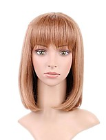 cheap -Synthetic Wig Straight Bob Haircut / Short Bob Synthetic Hair Natural Hairline Light Brown Wig Women's Short Cosplay Wig / Natural Wigs /