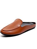 Недорогие -Муж. обувь Дерматин Весна Лето Обувь для дайвинга Удобная обувь Мокасины и Свитер для Повседневные на открытом воздухе Черный Коричневый