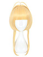 cheap -Synthetic Wig Straight Layered Haircut Natural Hairline Blonde Women's Capless Cosplay Wig Mid Length Synthetic Hair Christmas