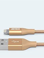 baratos -Iluminação Adaptador de cabo USB Carga rápida Alta Velocidade Cabo Para iPhone 200cm Náilon