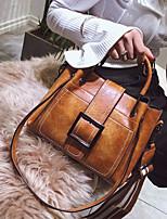 cheap -Women's Bags PU Tote Zipper for Casual Black / Blushing Pink / Brown