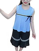 Недорогие -Дети Девочки Геометрический принт Без рукавов Набор одежды