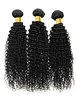 cheap -Peruvian Hair Curly Human Hair Weaves 50g x 3 Hot Sale Extention Human Hair Extensions All Christmas Gifts Christmas Wedding Party