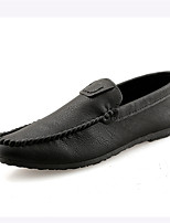 cheap -Men's Shoes Leatherette Spring Summer Driving Shoes Comfort Loafers & Slip-Ons for Casual Outdoor Black Burgundy