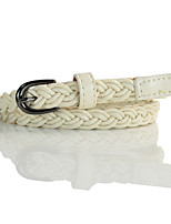 cheap -Women's Active Basic Leather Alloy Skinny Belt - Solid Colored