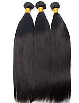 cheap -3 Bundles Malaysian Hair Straight Unprocessed Human Hair / Human Hair Gifts / Natural Color Hair Weaves / Hair Bulk / Tea Party Favors 8-28 inch Natural Color Human Hair Weaves Hot Sale / Fashion