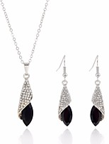 cheap -Women's Rhinestone Jewelry Set 1 Necklace / Earrings - Fashion / Sweet White / Black / Champagne Jewelry Set For Wedding / Evening Party