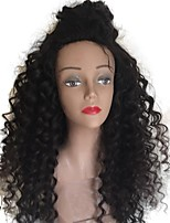 cheap -Unprocessed Human Hair Wig Brazilian Hair Curly Side Part Deep Parting Middle Part 130% Density With Baby Hair With Bleached Knots 100%