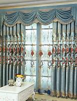 baratos -Sheer Curtains Shades Sala de Estar Floral Algodão / Poliéster Jacquard