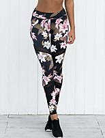 abordables -Mujer Básico Pantalones de Deporte Pantalones - Floral