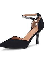 abordables -Mujer Zapatos Cuero Nobuck Primavera / Otoño Confort Tacones Tacón Stiletto Dedo Puntiagudo Hebilla Beige / Rojo / Rosa / Fiesta y Noche