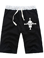 cheap -Inspired by One Piece Monkey D. Luffy Anime Cosplay Costumes Cosplay Tops / Bottoms Solid Colored Anime Mid Length Pant Shorts For All