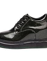 abordables -Femme Chaussures Polyuréthane Printemps Confort Oxfords Creepers Bout rond pour Vert foncé