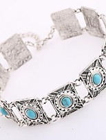cheap -Women's Lovely Flower Choker Necklace  -  Bohemian Ethnic Blue 32cm Necklace For Daily Evening Party