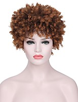 cheap -Synthetic Wig Curly Layered Haircut Faux Locs Wig Brown Women's Capless Natural Wigs Short Synthetic Hair Casual/Daily